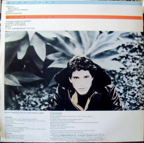 lp vinil - paul jabara - shut out - 1977