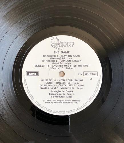 lp vinil - queen - the game - com encarte. ótimo estado