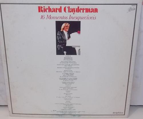 lp vinil  richard clayderman 16 momentos inesquecíveis