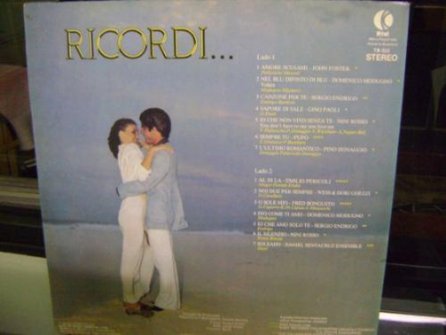 lp vinil ricordi 1979 músicas românticas italianas