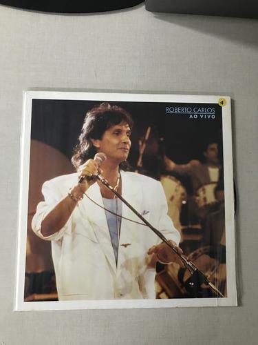 lp vinil roberto carlos - ao vivo - 1988 - capa dupla