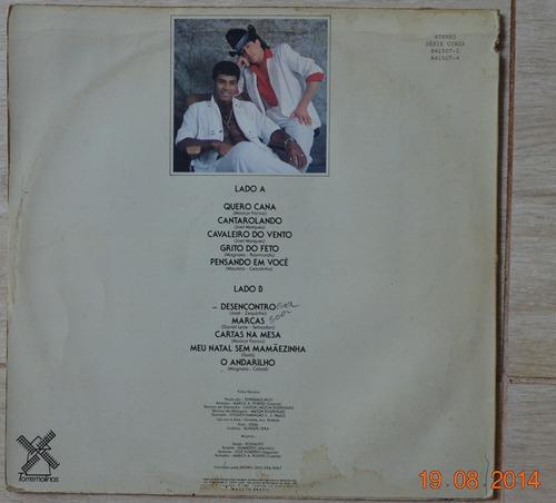 lp vinil - romeu & renato - 1989