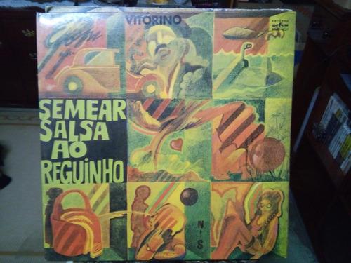 lp vinil semear salsa ao reguinho - vitorino raro importado
