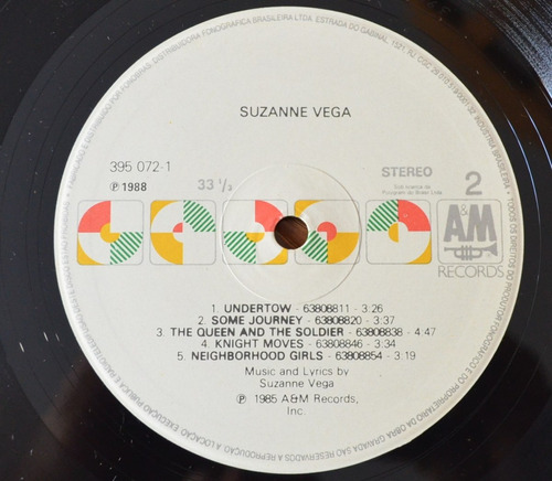 lp vinil - suzanne vega - 1985