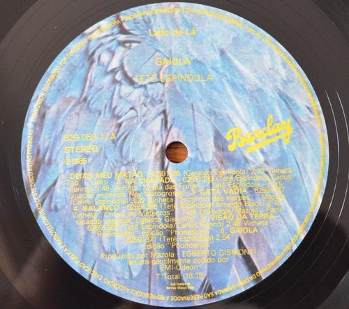 lp vinil - tetê espíndola - gaiola - 1986