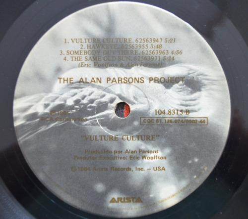 lp vinil - the alan parsons project - vulture culture - 1985
