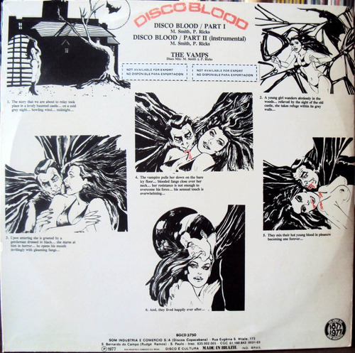 lp vinil - the vamps - disco blood - 1977