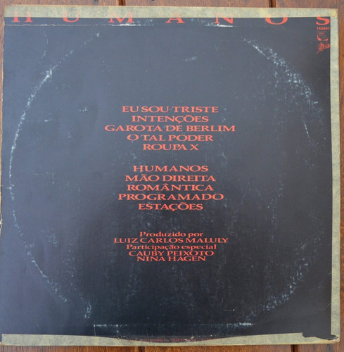 lp vinil - tokio - humanos - 1985