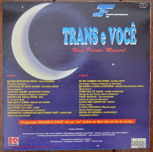 lp vinil - trans e voce - uma paixão musical - 1993