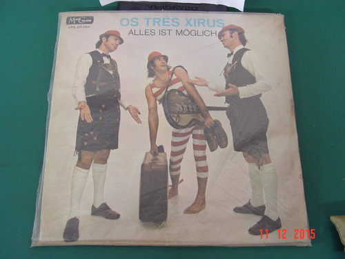 lp vinil tres xirus toca disco agulha gaucho sanfona gaita