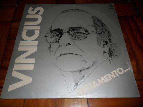 lp vinil vinicius - testamento...