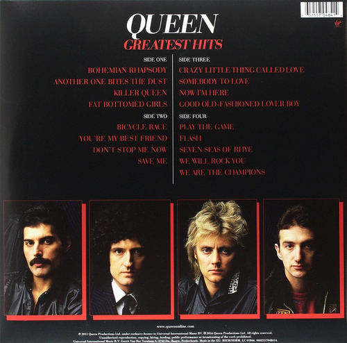 lp vinil vinyl queen greatest hits 1  - duplo 180 g -