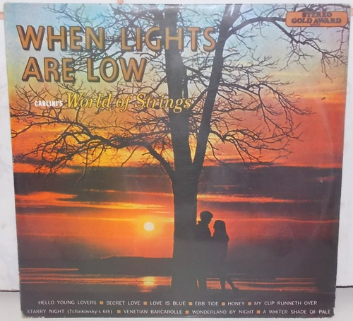lp vinil -  when lights are low - carlini's world of string