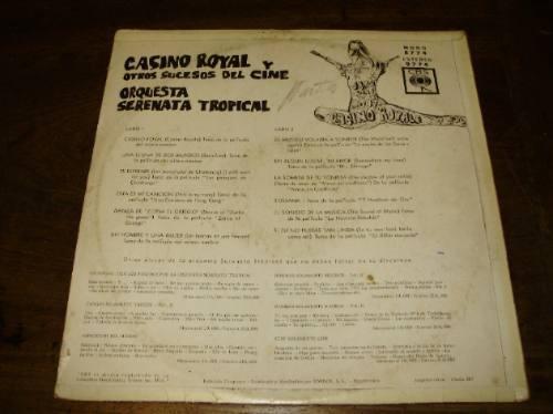 lp vinilo-12'' casino royal orquesta serenata tropical cbs