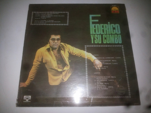 lp vinilo acetato disco vinyl federico y su combo latino
