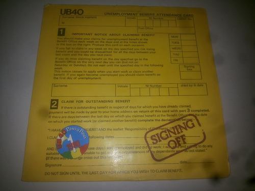 lp vinilo acetato disco vinyl ub40 signing off
