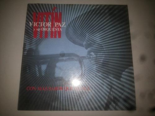 lp vinilo acetato disco vitin victor paz y su orquesta salsa