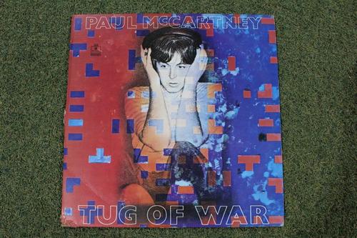 lp vinilo acetato paul mccartney tug of war    beatles