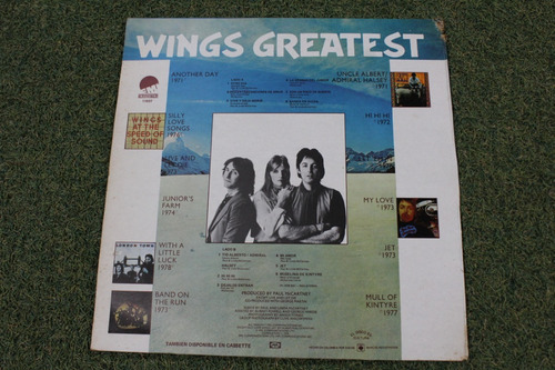 lp vinilo acetato wings geatest ...... beatles mccartney