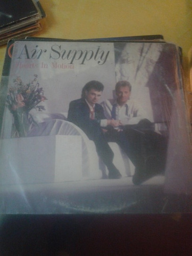 lp vinilo air supply hearts in motion con insert