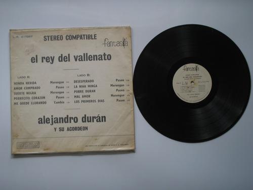 lp vinilo alejandro duran el rey vallenato