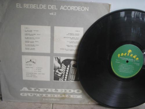 lp vinilo alfredo gutierrez el rebelde del acordeón vol-2