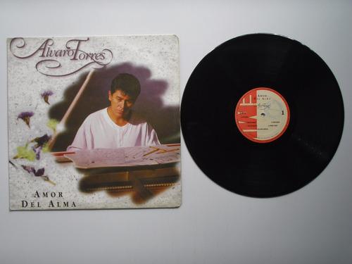 lp vinilo alvaro torres amor del alma disco promocional 1994