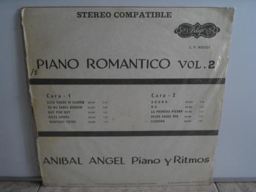 lp vinilo anibal angel piano romántico vol 2