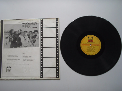 lp vinilo arnulfo briceño y conjunto alma llanera 1978
