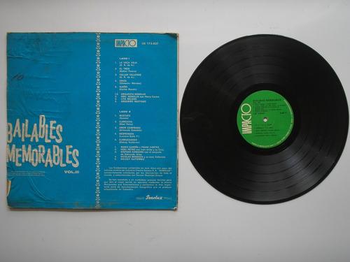 lp vinilo bailables memorables volumen  3
