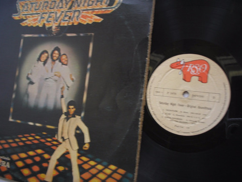 lp vinilo bee gees saturday night fever  2lp colombia 1978