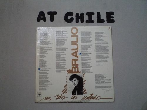 lp vinilo braulio álbum con todos los sentidos!!