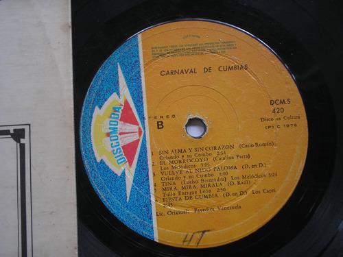 lp vinilo carnaval de cumbias varias orquestas