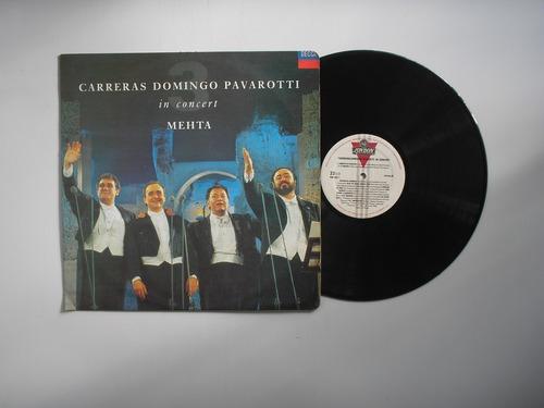 lp vinilo carreras domingo pavarotti mehta in concert 1990