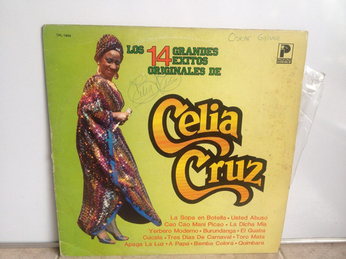 lp vinilo celia cruz 14 grandes éxitos printed usa 1983