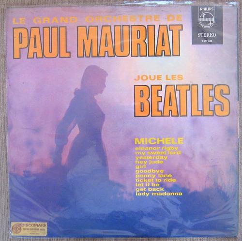 lp vinilo de paul mauriat joue les beatles, instrumental