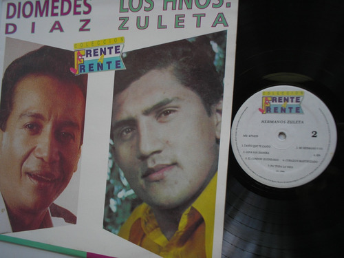 lp vinilo diomedes los hermanos zuleta frente a frente 1994