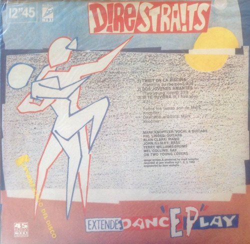 lp vinilo dire straits maxi twisting by the pool y otros