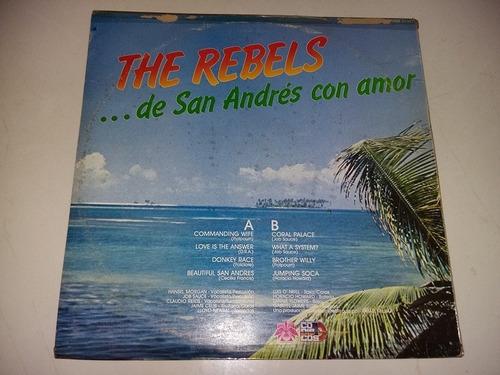 lp vinilo disco acetato the rebels de san andres con amor