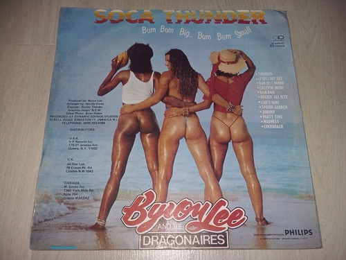 lp vinilo disco byron lee & the dragonaires soca thunder