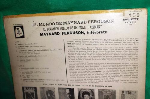 lp vinilo el mundo de maynard ferguson, jazzman