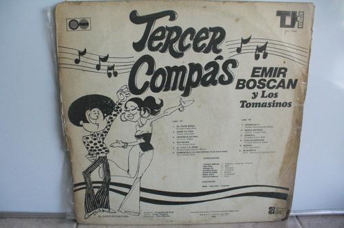 lp vinilo emir boscan y los tomasinos tercer compas