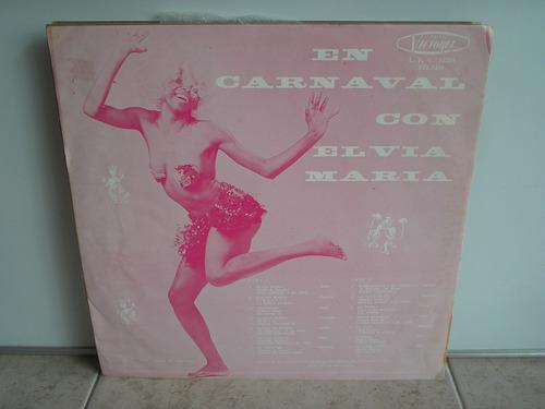 lp vinilo en carnaval con elvia maria 1978