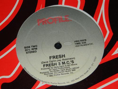 lp vinilo fresh 3 m.c.'s fresh sellado