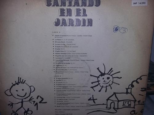 lp vinilo infantil cantando en el jardin