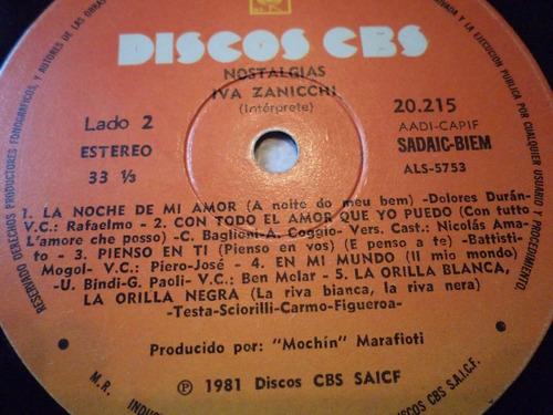 lp vinilo iva zanicchi álbum: nostalgias