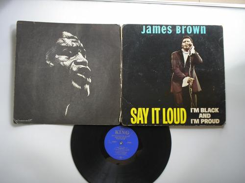 lp vinilo james brown  say it loud im black & proud  pri usa