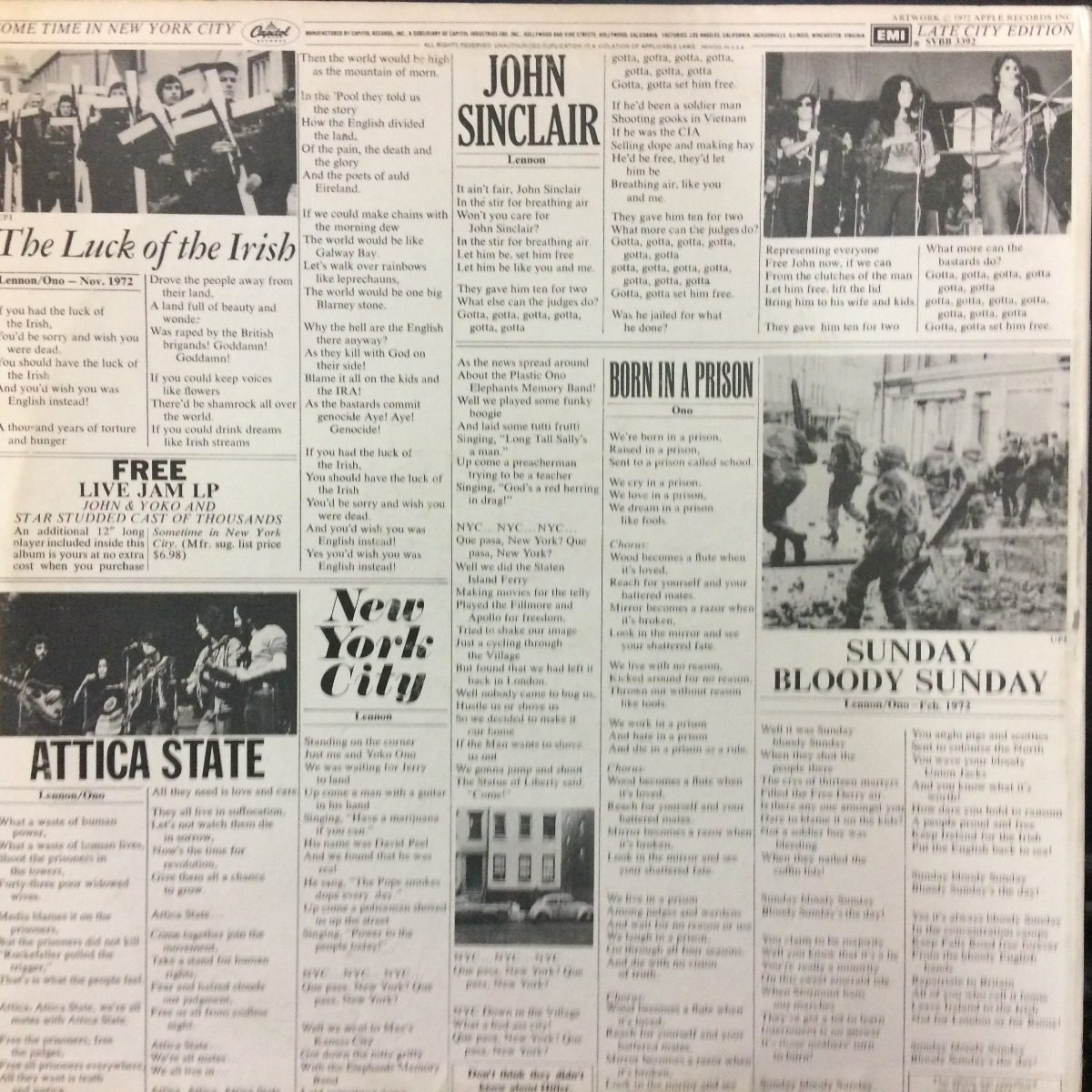 Lp Vinilo John Lennon Some Times Nyc Orig Usa Ex Beatles