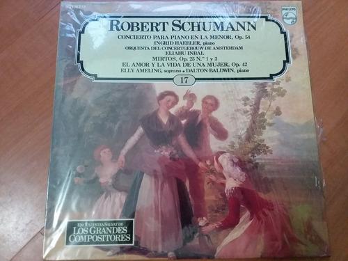 lp vinilo los grandes compositores #17 - robert shumann