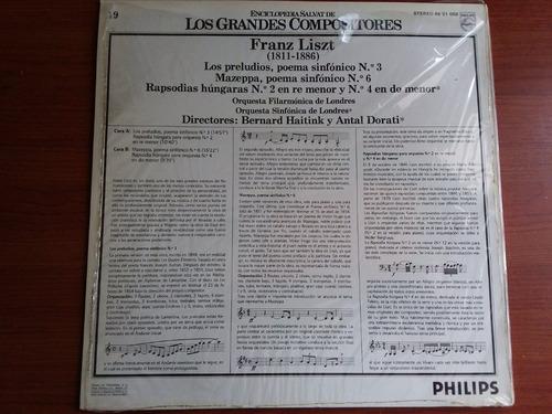 lp vinilo los grandes compositores #19 - franz liszt